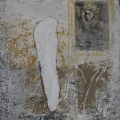 """Gebet"" Acrylcollage (40x40cm)"