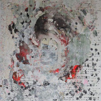 """""""Durch alle Zeiten"""" Acrylcollage (60x80cm)"""