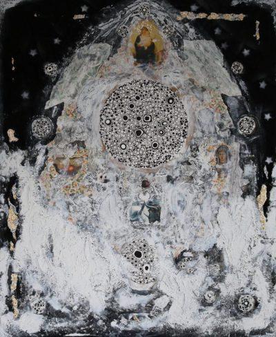 """""""Ich bin das Licht"""" Acrylcollage (90x110cm)"""