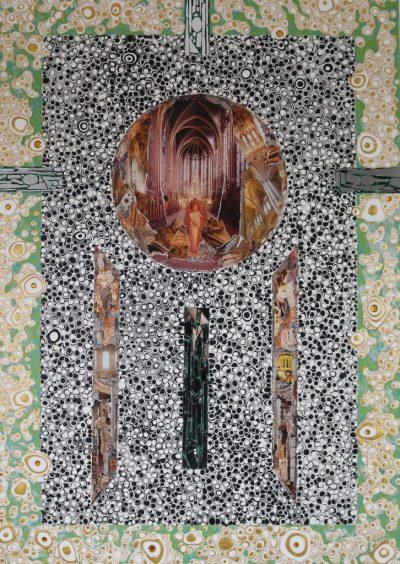 """""""Elysium"""" Acrylcollage (70x100cm)"""