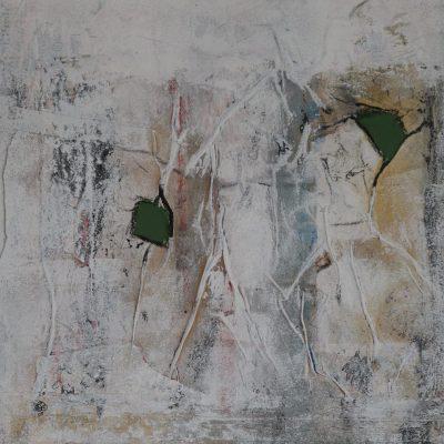 """""""Struktur"""" Acrylcollage (40x40cm)"""