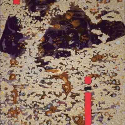 """Die goldene Reise"" Acrylcollage (90x110cm)"