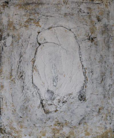 """""""Hingabe"""" Acrylcollage (50x60cm)"""