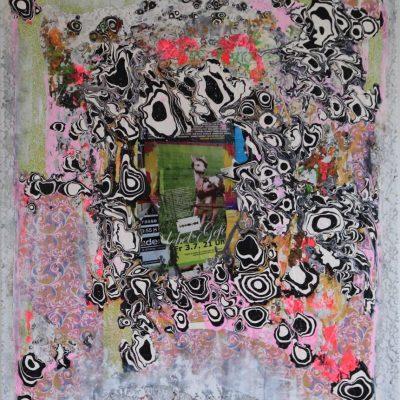 """""""Bang Bang"""" Acrylcollage (100x120cm)"""