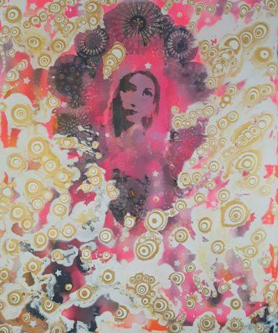 """Across the universe"" Acrylcollage (100x120cm)"