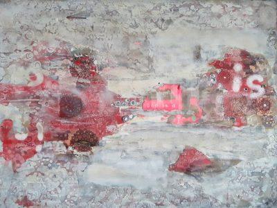 """""""Atmosphere"""" Acrylcollage (120x160cm)"""