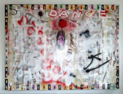 """""""Like a virgin"""" Acrylcollage (120x160cm)"""